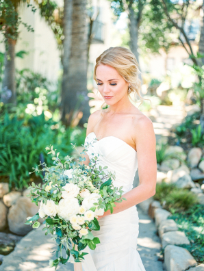 Bride with Curly Updo