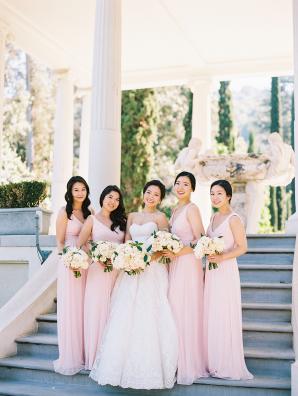 Bridesmaids in Davids Bridal