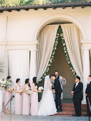 Elegant Draped Wedding Arbor
