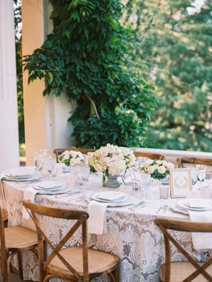 Elegant Outdoor Wedding with Lace Linen