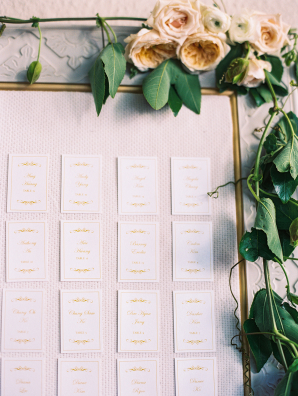 Escort Cards on Large Frame