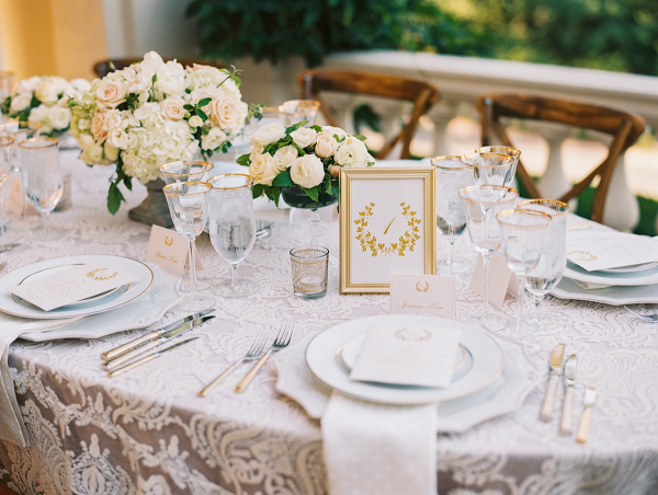 Farmhouse Table with Lace Linen
