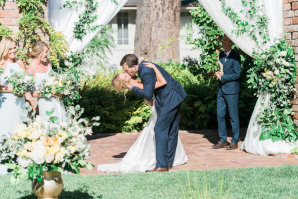 First Kiss Outdoor Ceremony