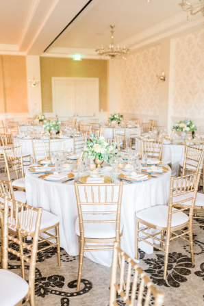 Gold and Green Hotel Wedding