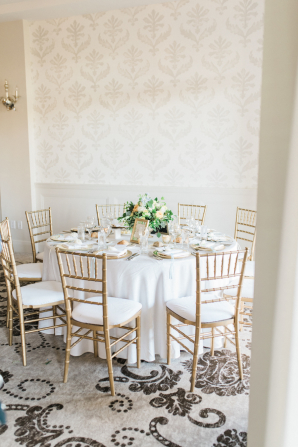 Gold and Green Wedding Reception
