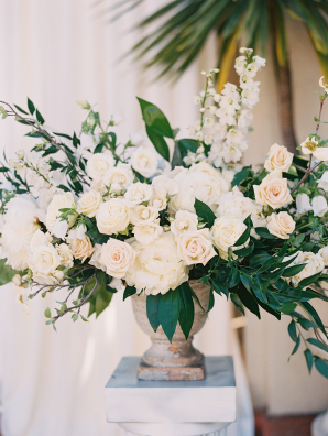 Ivory Peony and Garden Rose Wedding Flowers