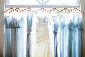 Nouvelle Amsale Blue Bridesmaids
