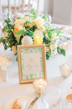 Peach Green and Gold Wedding