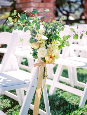 Peach and Ivory Ceremony Flowers