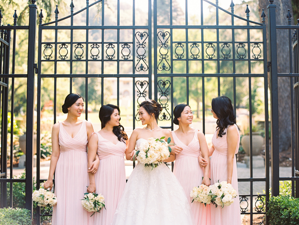 Pink Davids Bridal Bridesmaids Dresses
