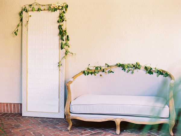 Seating Cards and Lounge Area with Greenery