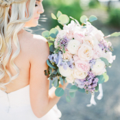 Bouquet of Soft Pink and Purple