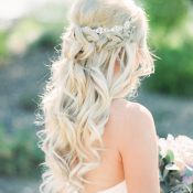 Braided Curls for Bride