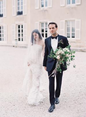 Bride in Oscar de la Renta