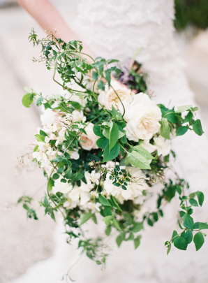 Garden Rose and Greenery Bouquet