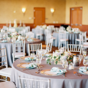 Lavender and Teal Wedding Reception