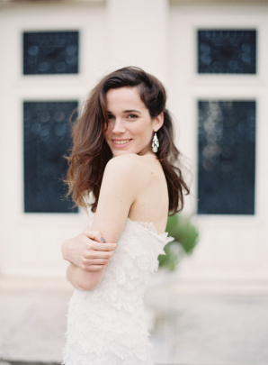 Oscar de la Renta Lace Wedding Dress