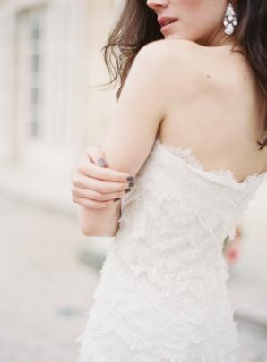 Oscar de la Renta Lace Wedding Gown
