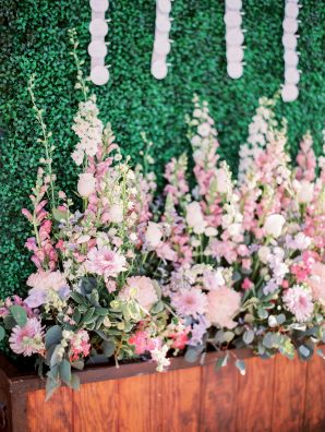 Pink Stalk Flowers for Wedding
