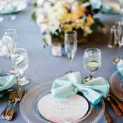 Place Setting with Napkin Bows