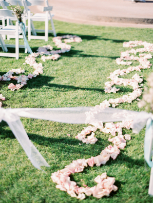 Rose Petal Design in Wedding Aisle