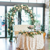 Sweetheart Table with Greenery Arch