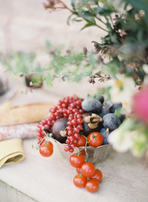 Tomatoes and Berries at Wedding