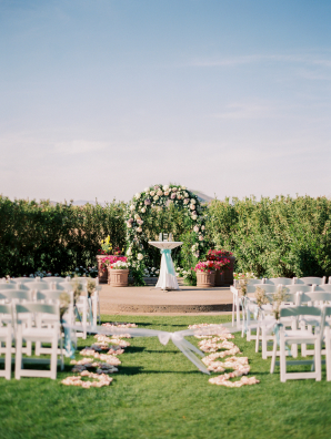 Wedding Ceremony with Greenery Arch