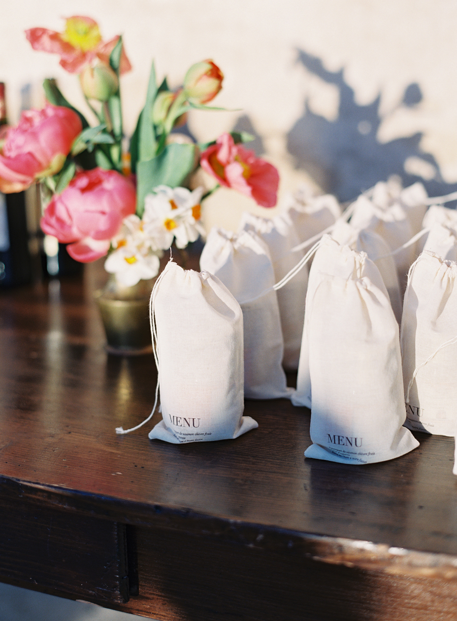 Wedding Gift Bag Ideas Washington Dc : Wedding Menus on Favor Bags - Elizabeth Anne Designs: The Wedding Blog