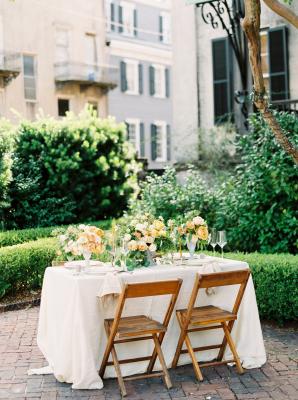 Yellow Garden Wedding Table