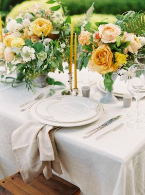 Yellow and Marigold Wedding Flowers
