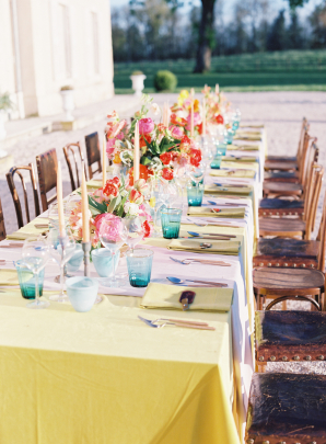 Yellow and Pink Reception