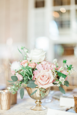 Blush and Gold Wedding Flowers