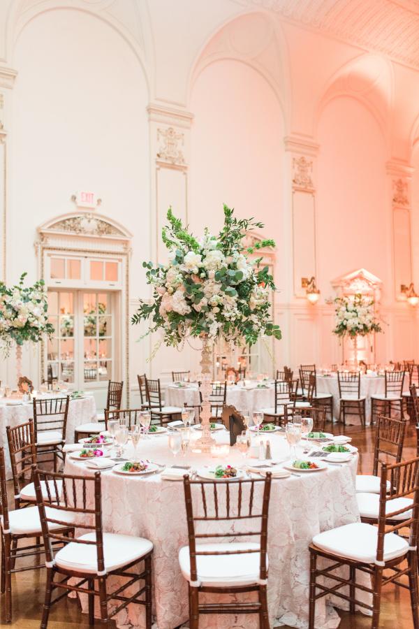 Blush and White Wedding Reception
