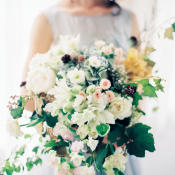 Bridal Bouquet with Ivory Blooms