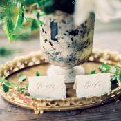 Bride and Groom Escort Cards