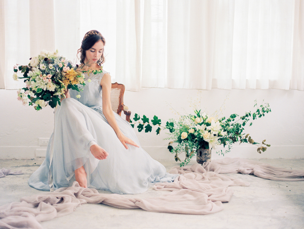 Bride in Delicate Blue Gown