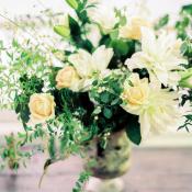 Cream and Yellow Wedding Flowers