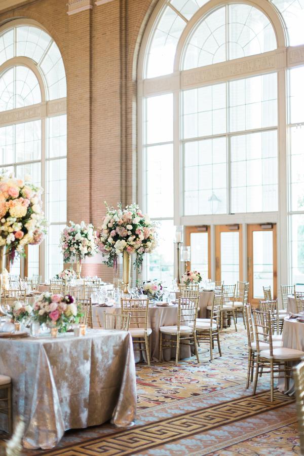 Dramatic Blush and Gold Ballroom Wedding