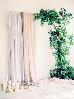 Dyed Silk Wedding Altar
