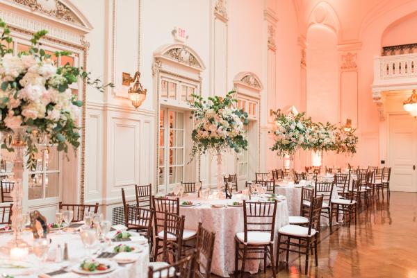 Elegant Blush and White Mansion Wedding