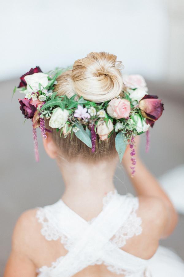 Flower Girl Floral Wreath