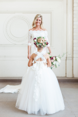 Flower Girl with Tulle Dress