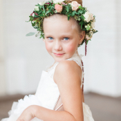 Flower Girl with Wreath in Hair