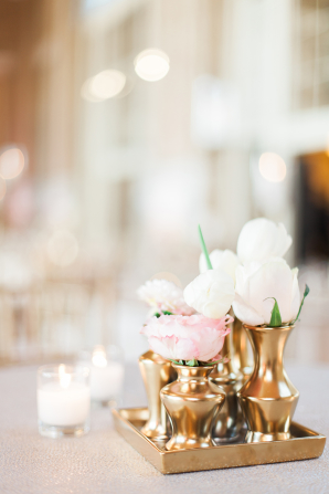 Gold and Blush Wedding Details