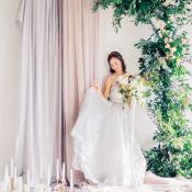 Greenery and Silk Wedding Altar
