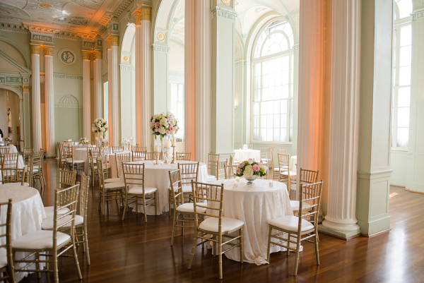 Mint and Gold Ballroom Wedding