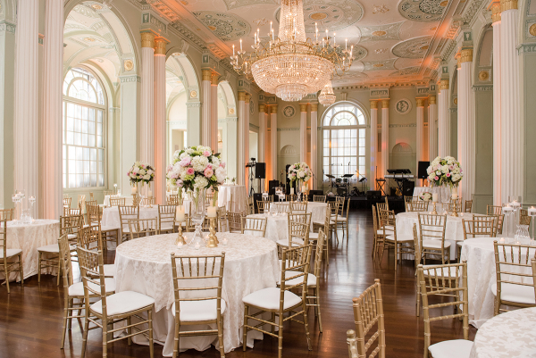 Mint and White Ballroom Wedding