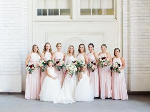 Pink Bill Levkoff Bridesmaids