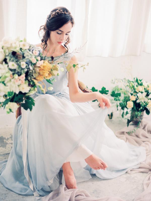 Romantic Serenity Blue Wedding Inspiration
